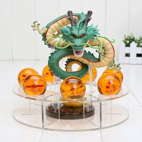 dragão shenlong + as 7 esferas + base pronta entrega