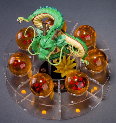 dragão shenlong + as 7 esferas + base pronta entrega