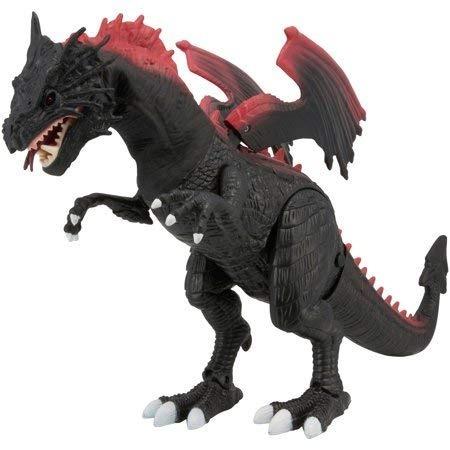 dragon adventure force  sonidos luces negro con rojo juguete