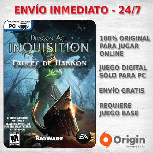 dragon age inquisition jaws of hakkon expansion juego pc dlc