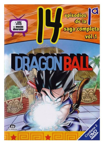 dragón ball - 1a saga volumen 1- (serie animada en 2 dvds)