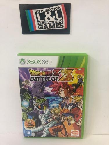 dragon ball battle of z xbox 360 usado