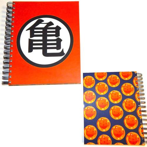 dragon ball cuaderno goku roshi esferas pasta dura 180 hojas