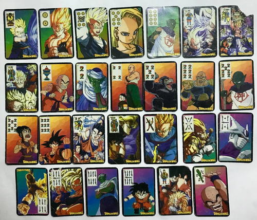 dragon ball  dragon ball z dragon ball z4 mazo naipes cartas