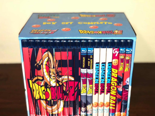 dragon ball, dragon ball z y dragon ball gt en bluray latino