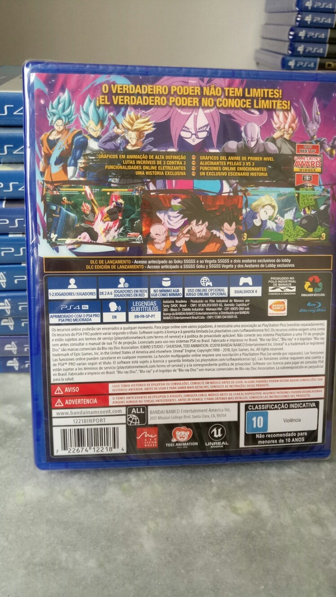 Dragon Ball Fighter Z Edição De Lançamento Fisica Ps4 Novo