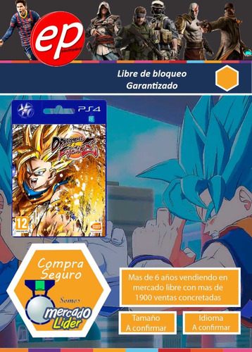 dragon ball fighter z  para ps4  garantia 6 ctas sin interes