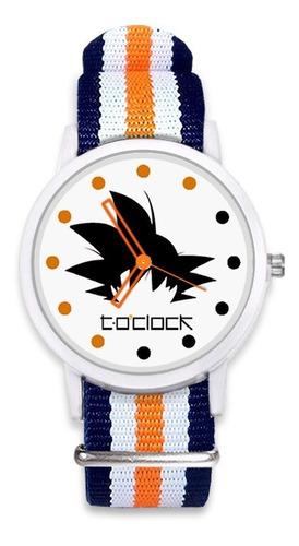 dragon ball goku reloj unisex correa nato + caja regalo