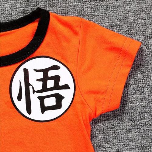 dragon ball goku traje recién infantil niño ropa trajes de