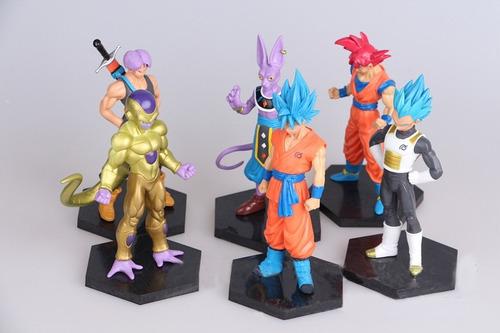 dragon ball juguetes arcilla  6 unids/set