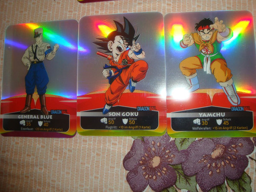 dragon ball laminas cards sobre 3 sobres 35 soles