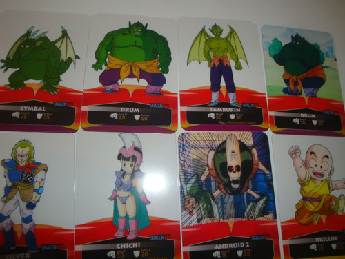 dragon ball laminas cards sobre bienen 5 laminas