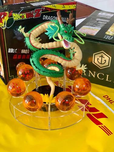 dragon ball set + shen long + base + esferas del dragón