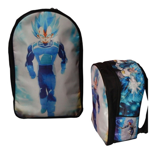 dragon ball super mochila backpack vegeta sayayin dios