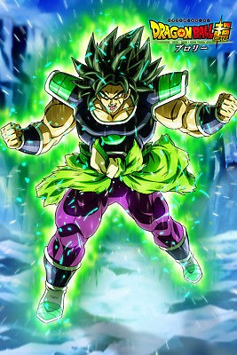 Dragon Ball Super Poster Broly Movie 2018 Broly Angry 12inx