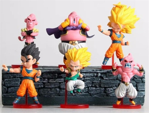 dragon ball wcf banpresto figuras set x 6 majin buu ajd 019