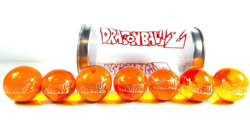 dragon ball z 7 esferas del dragon shen long naranjas de 3cm