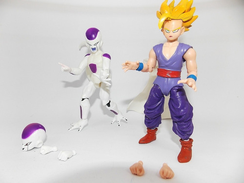dragon ball z 9 bonecos articulados freeza goku gohan trunks