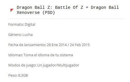 dragon ball z: battle of z + dragon ball xenoverse (ps3)