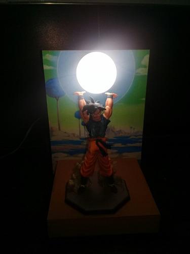 dragon ball z, lampara, velador goku gekidama artesanal