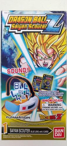 dragon ball z scouter saiyajin completo com som e 2 cartões