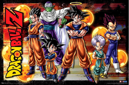 dragon ball z - set por 6 muñecos - fair play toys