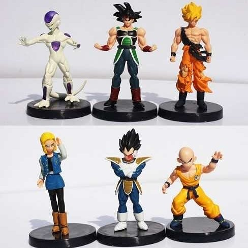 dragon ball z set x6 figuras goku vegeta androide  18