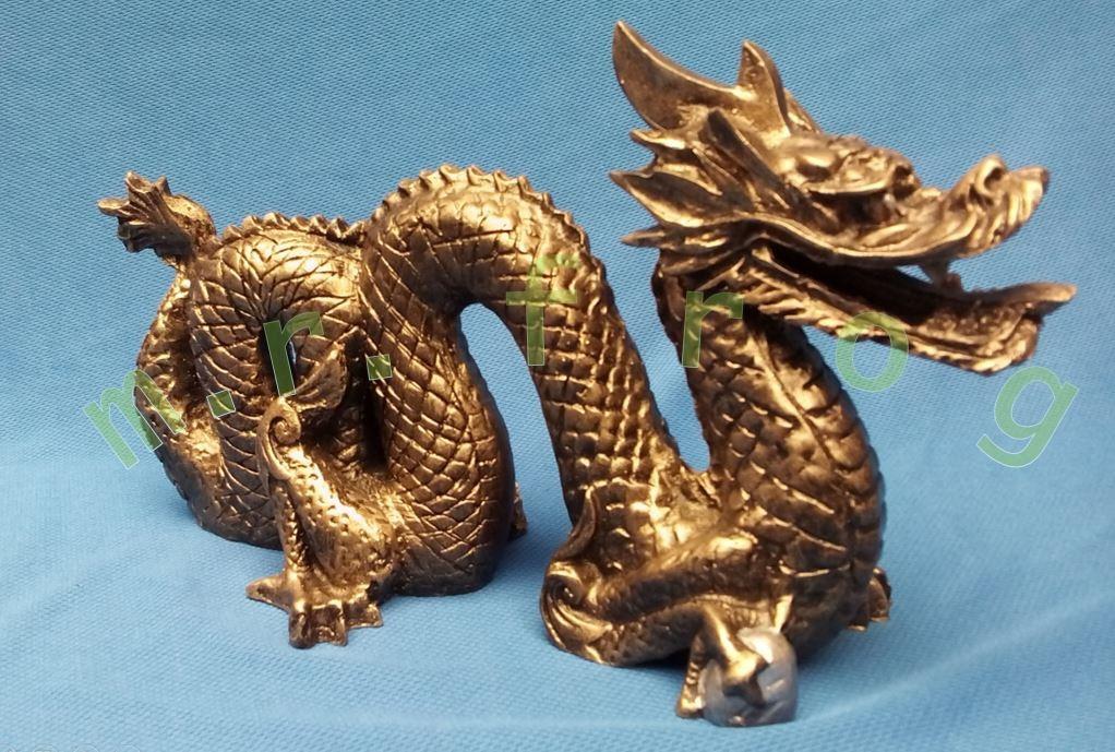 Dragón Chino De La Suerte Con Acabados En Dorado 35000 En