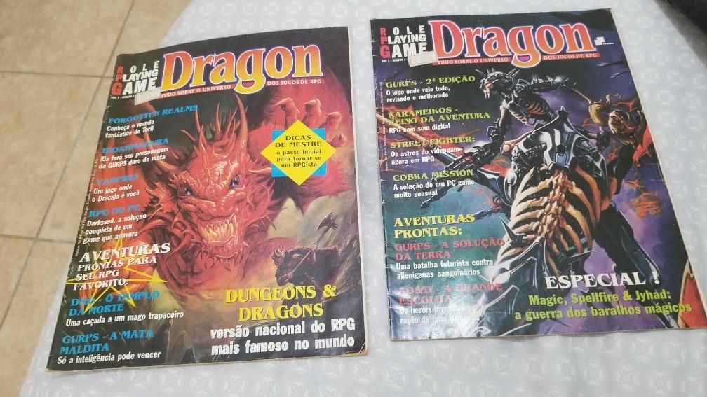 Dragon Magazine 4, 7 E 11 E Dragon 1 E 2 Revistas De Rpg
