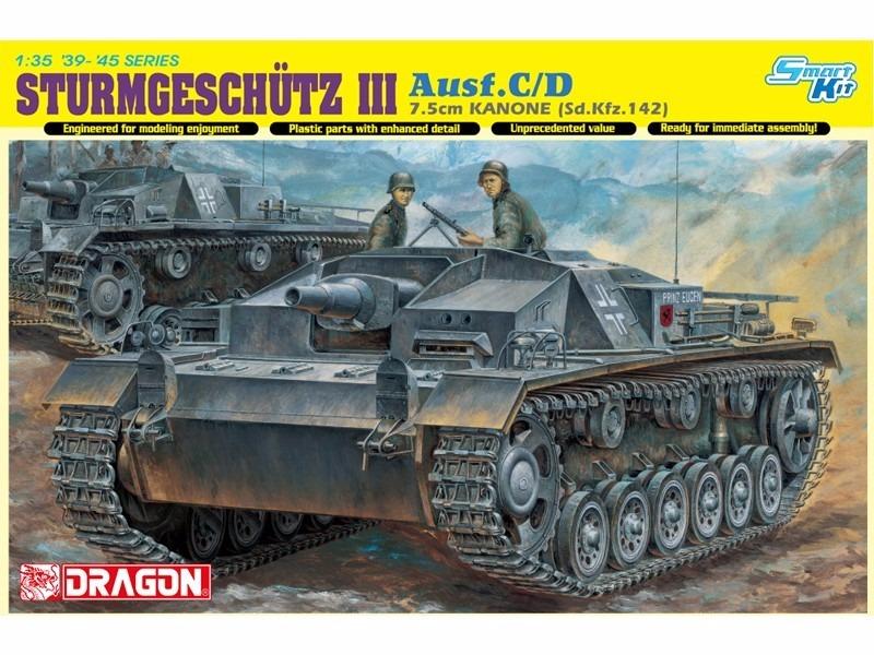 dragon sturmgeschütz iii ausf c d 7 5cm kanone 1 35 r 395 00 em