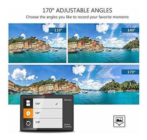 dragon touch 4k camara accion 16mp vision 3pro wifi