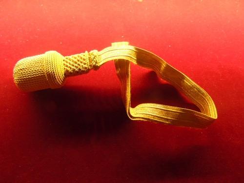 dragona dorada para sable o espada militar