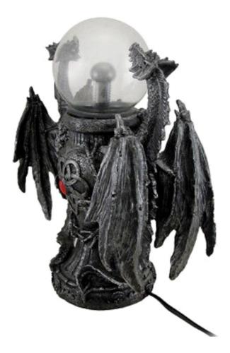dragones con lámpara de plasma dragón medieval bobina tesla