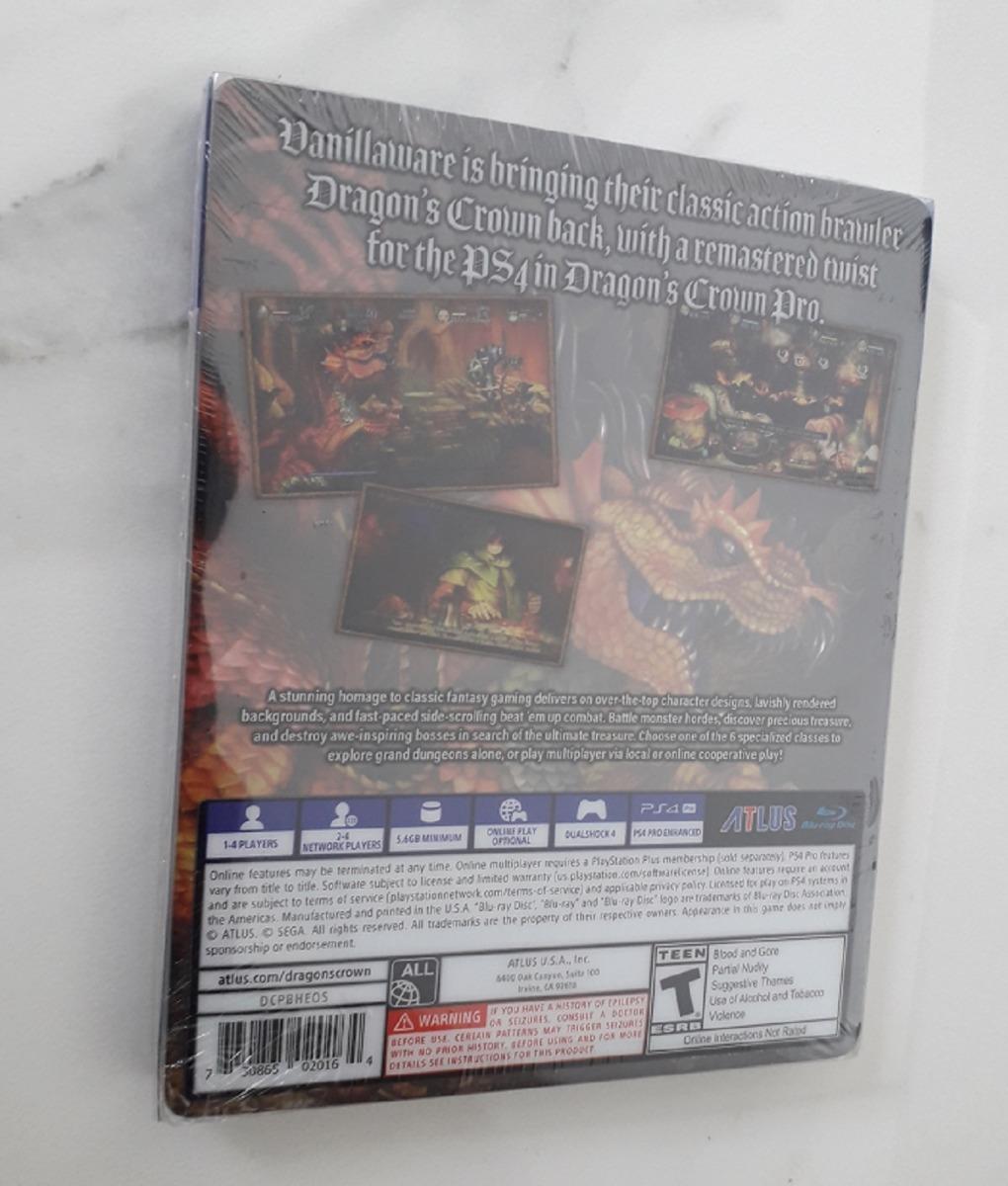 Dragons Crown Pro Hardened Edition Ps4 Mídia Física Lacrado