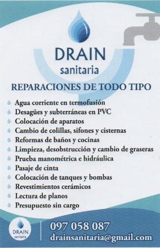 drain sanitaria - sanitaria en general pando y alrededores