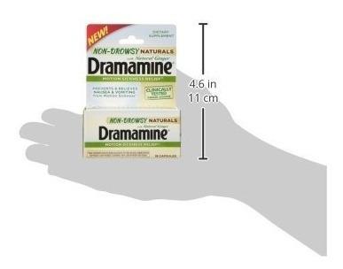 Dramamine Non-drowsy Naturals Con Jengibre Natural, 18 Count