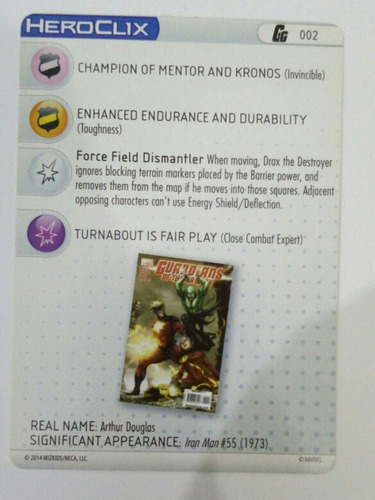 drax the destroyer. heroclix