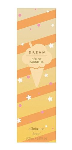dream céu de baunilha desodorante colônia 200ml