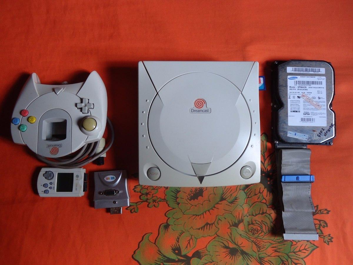 Dreamcast - Com Hd Ide, Mod Sd E Mod Bios Mais Vga Adapter