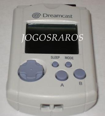 dreamcast: vmu original branco (tradicional), raridade!!