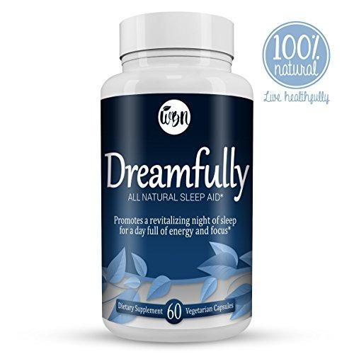 dreamfully ayuda natural sueño - melatonina, magnesio, man