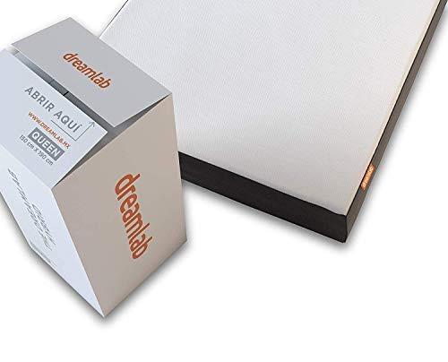 dreamlab colchón memory foam con tecnología híbrida (indivi