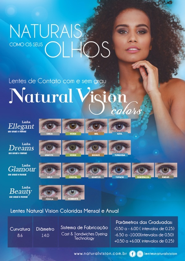 13972c477 dreams grafite natural vision anual lentes de contato c/grau. 4 Fotos