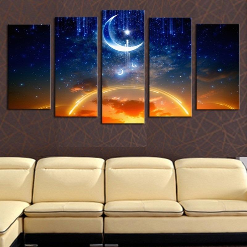 Dreamsky Luna Impreso Lienzo Sin Enmarcar El Arte De Pared D ...