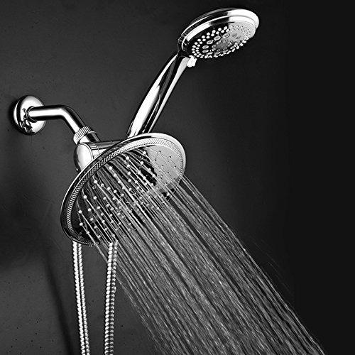 dreamspa 1432 3-way rainfall shower-head y ducha de mano, cr