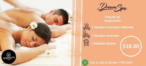 dreamspa masaje salud y belleza en workouts gym