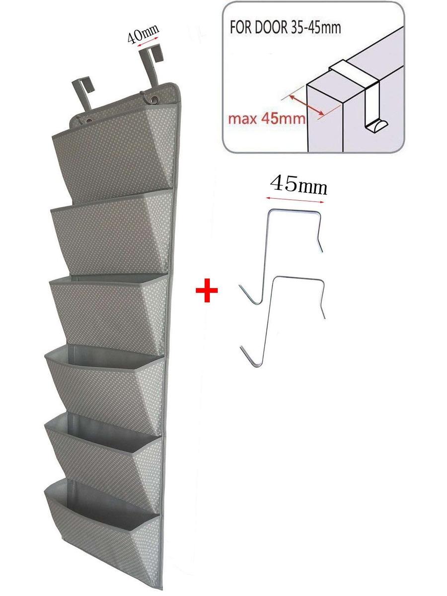 Organizador de documentos de montaje en pared sobre puerta Soporte de carpeta de