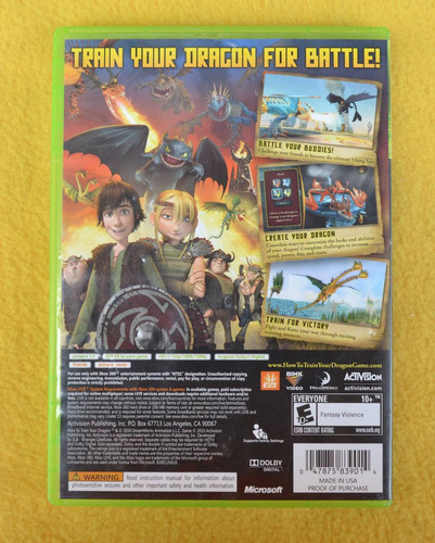 dreamworks how to train your dragon xbox 360