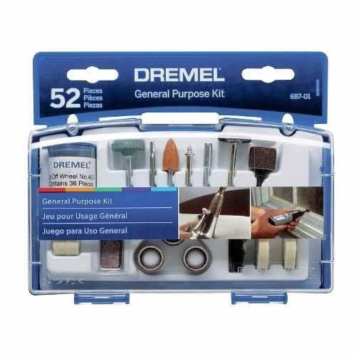 dremel 3000 (inc.10 accesorios) + kit 52 pzs + mandil dremel