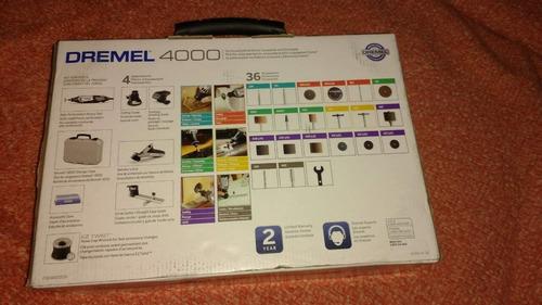 dremel 4000 kit de herramientas rotativas de velocidad varia